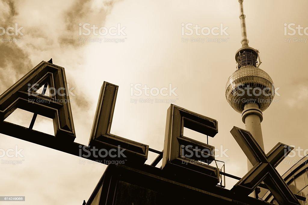 Berlin Alexanderplatz stock photo