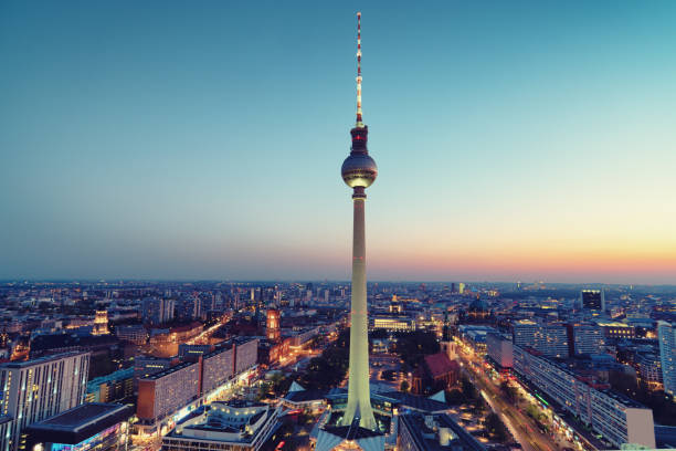 Berlin bei Nacht Panoramablick – Foto
