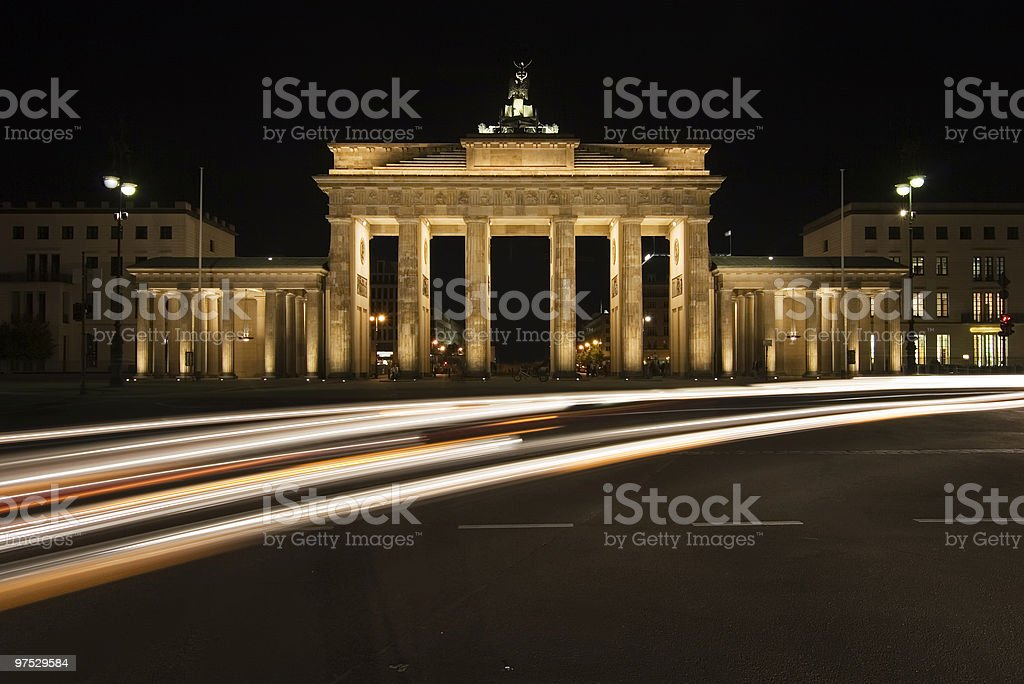 Berlin at night royalty-free stock photo
