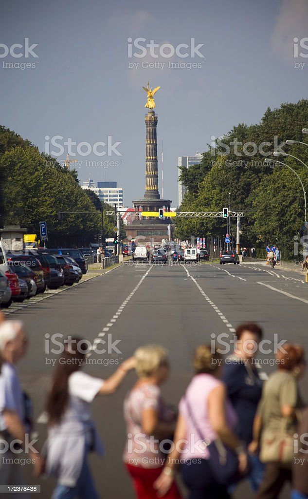 Berlin Allee royalty-free stock photo