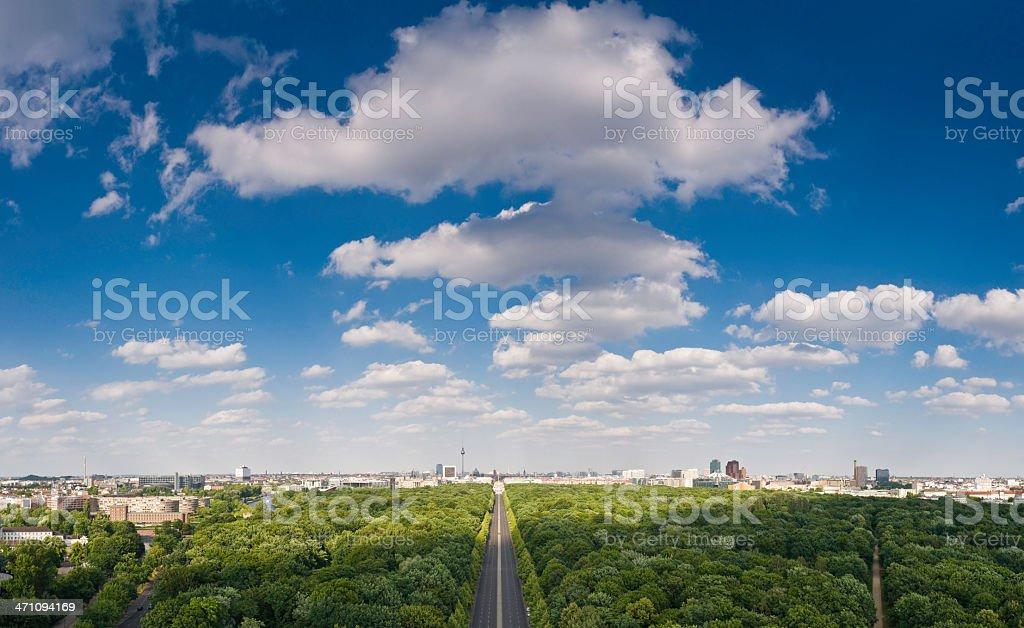 Berlin big sky cityscape stock photo