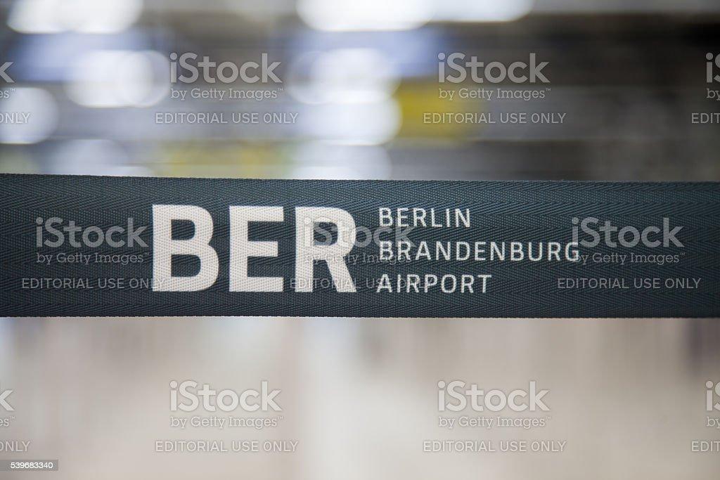 BER berlin brandenburg barrier bound on airport stock photo