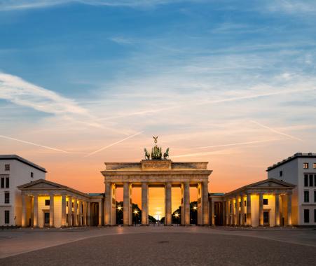 Berlin, Brandenburg Gate at night