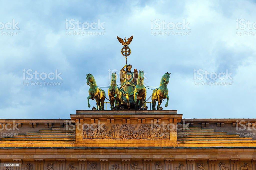 베를린, Brandenburger 토어 royalty-free 스톡 사진
