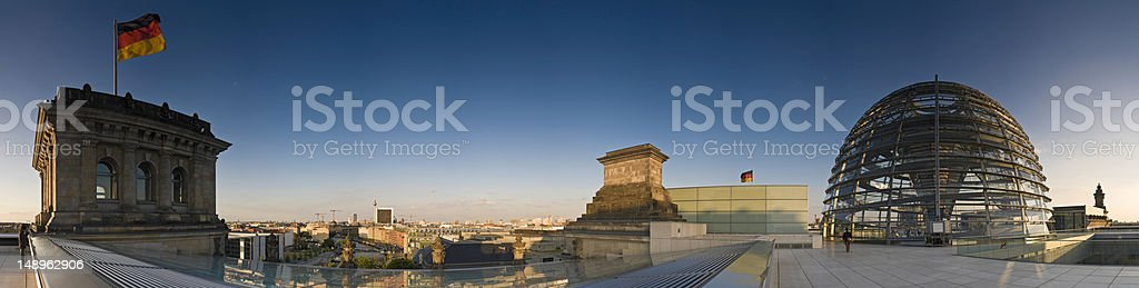 Berlin Bundestag gold and blue royalty-free stock photo