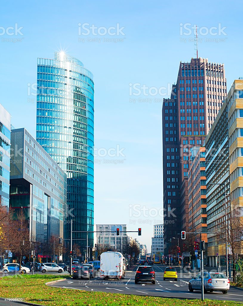 Berlin business downtown stock photo
