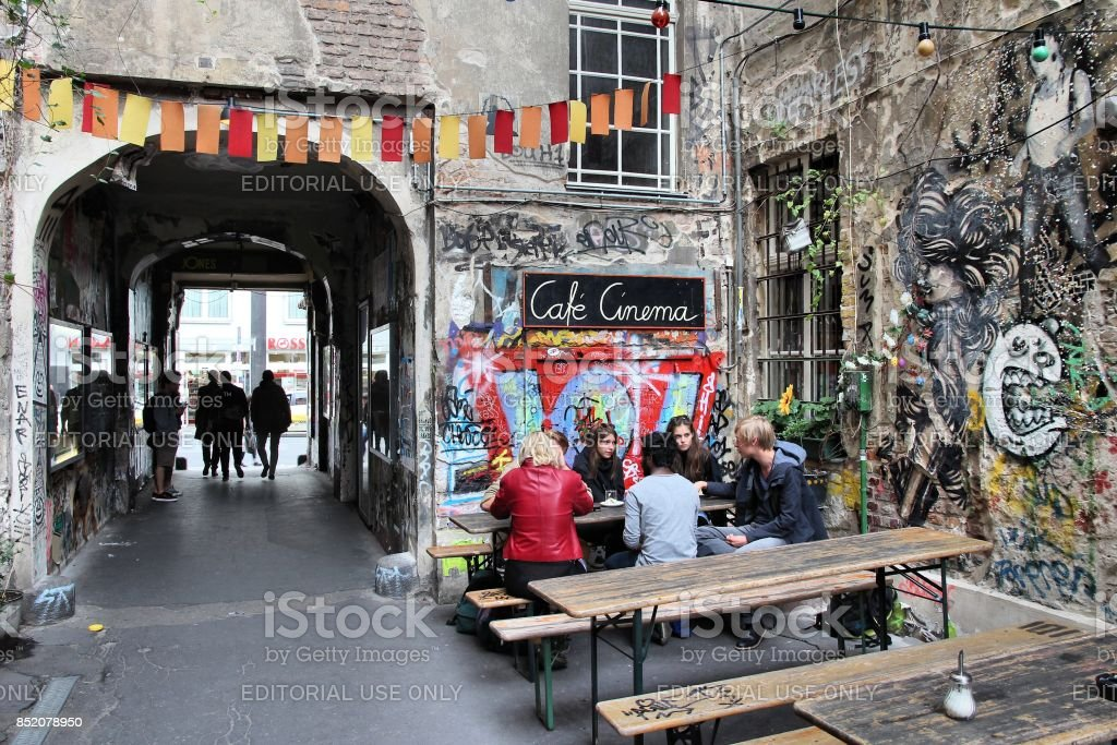 Berlin cafe stock photo