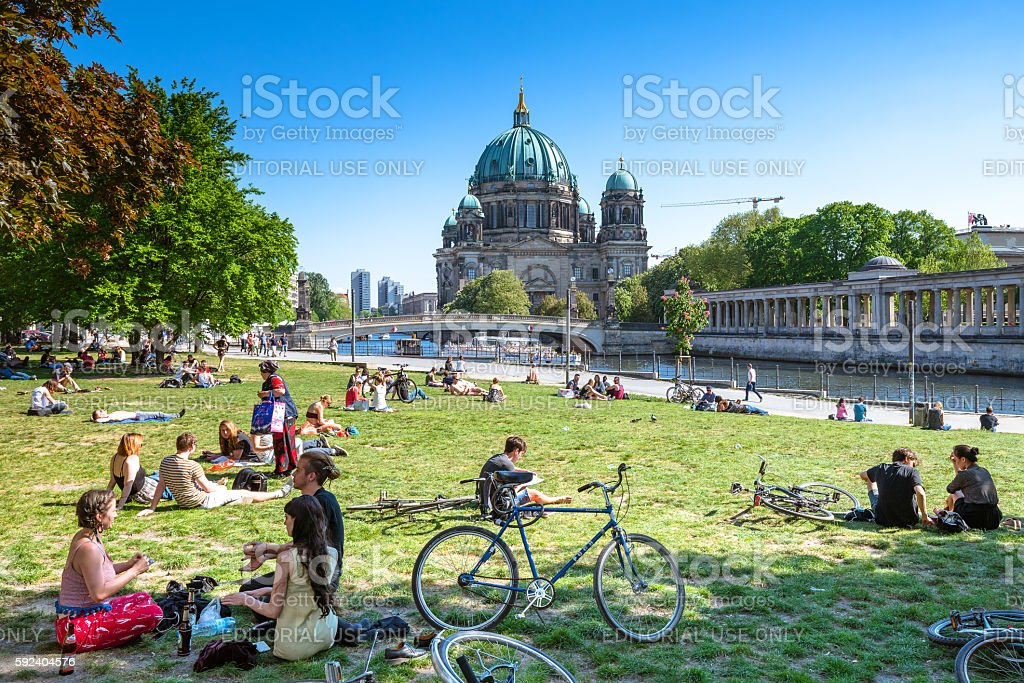 Berlin Cathedral and Museum Island stock photo