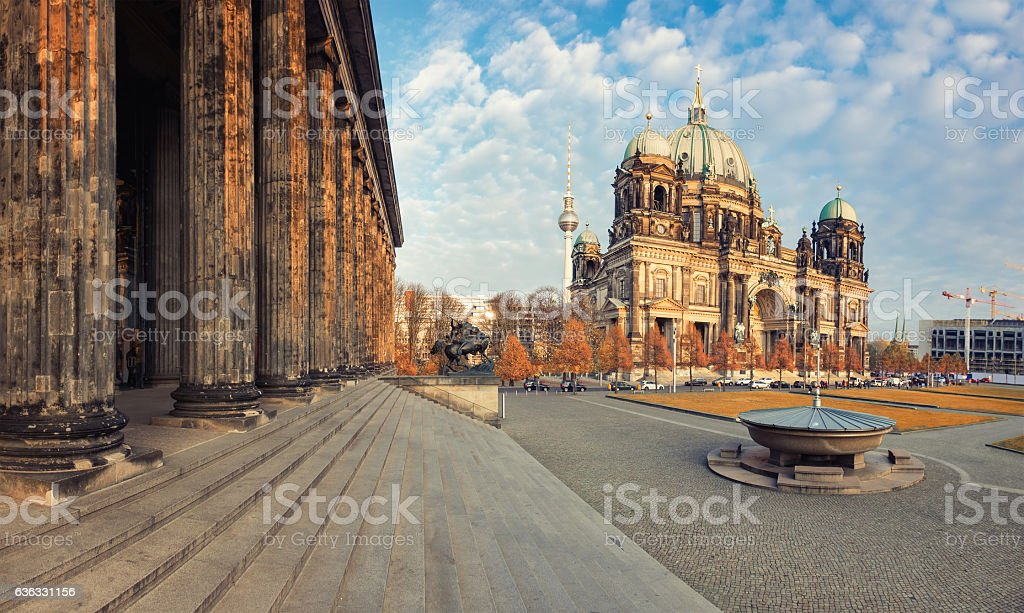 Berlin Cathedral, or Berliner Dom in Autumn stock photo