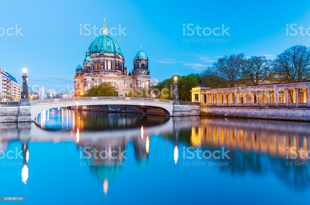 Berlin Cathedral, the Berliner Dom at twilight, Germany – Foto