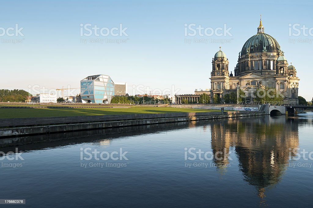 Berlin Cathedral (Berliner Dom) with Humboldtbox stock photo