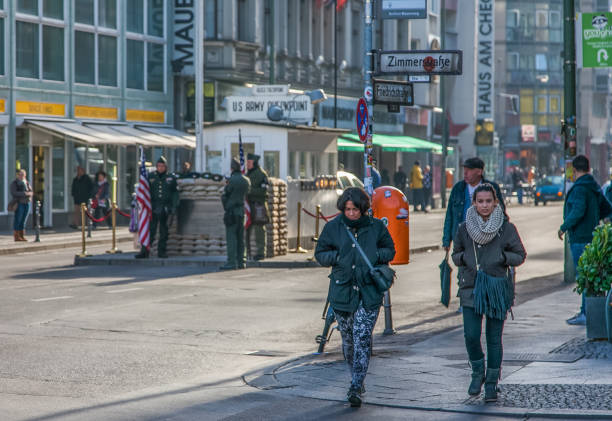 Berlin - Checkpoint Charlie stock photo