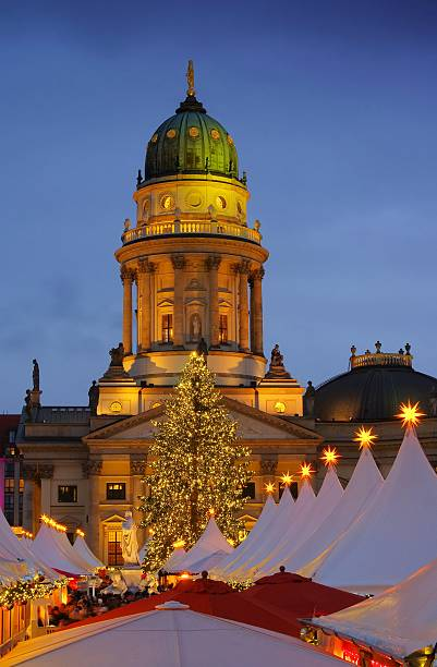 Berlin christmas market Gendarmenmarkt Berlin, christmas market in Germany gendarmenmarkt stock pictures, royalty-free photos & images