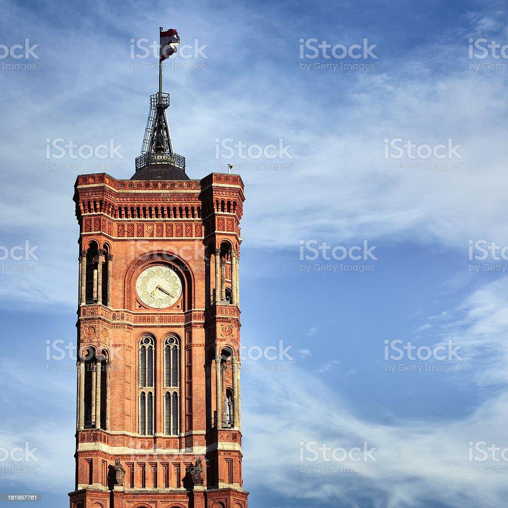 Berlin city hall tower stock photo