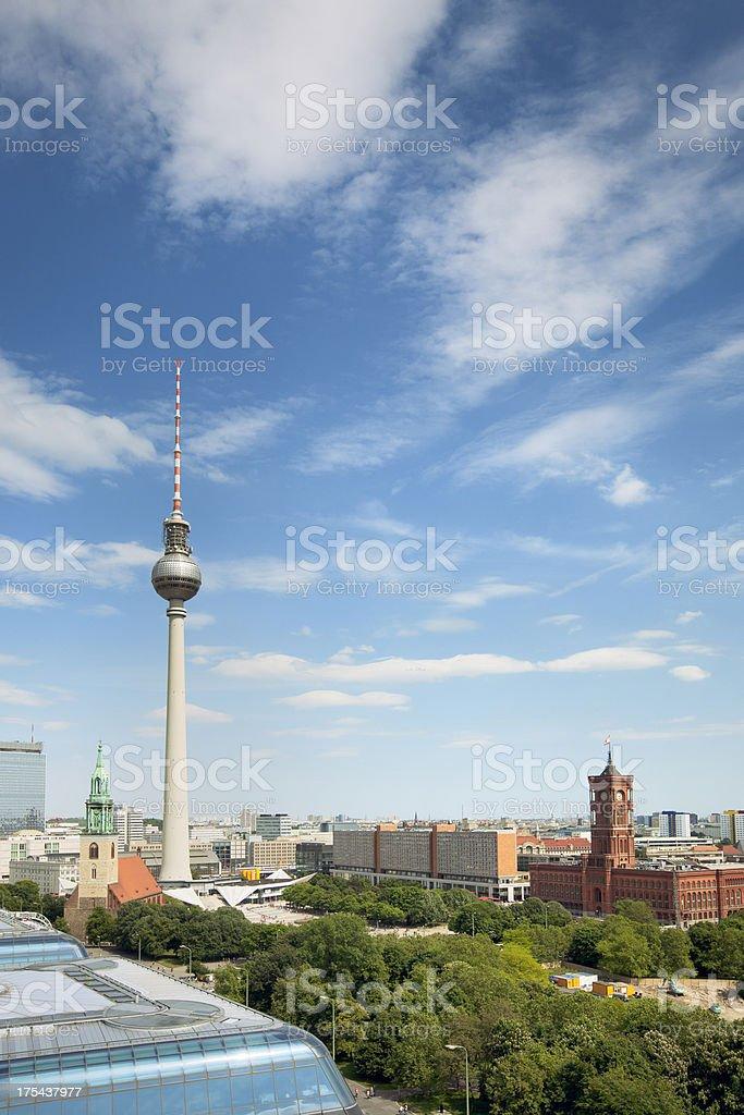 Berlin city stock photo