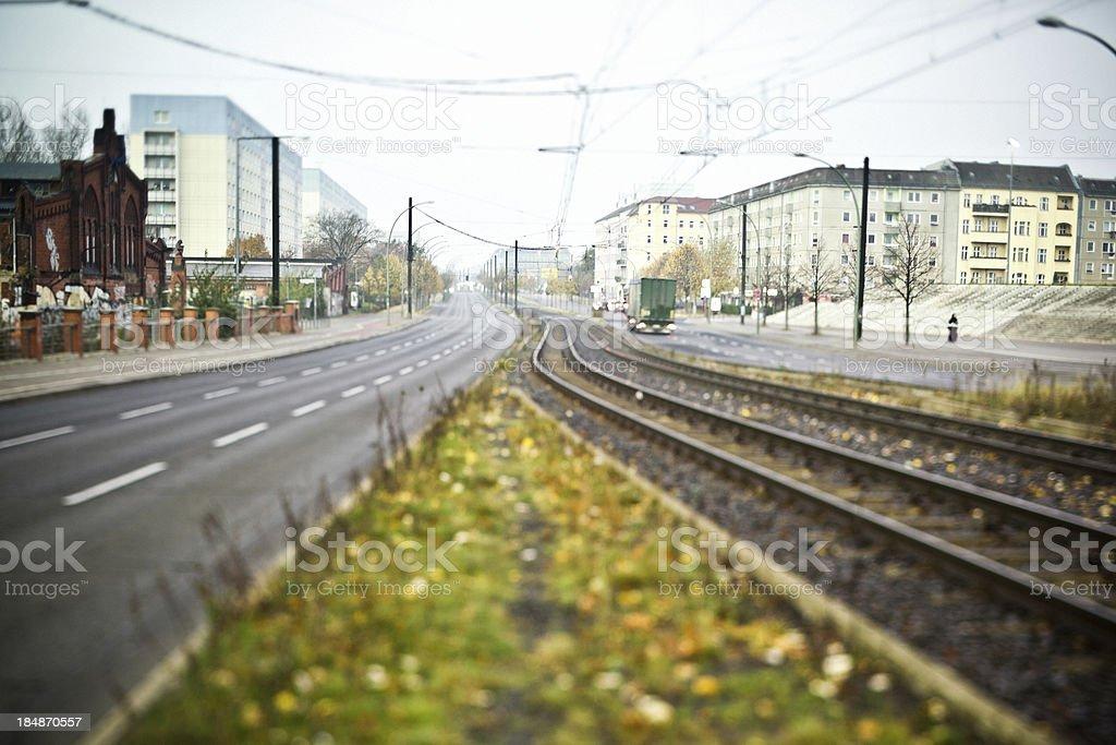 Berlin City Railway and Street royalty-free stock photo