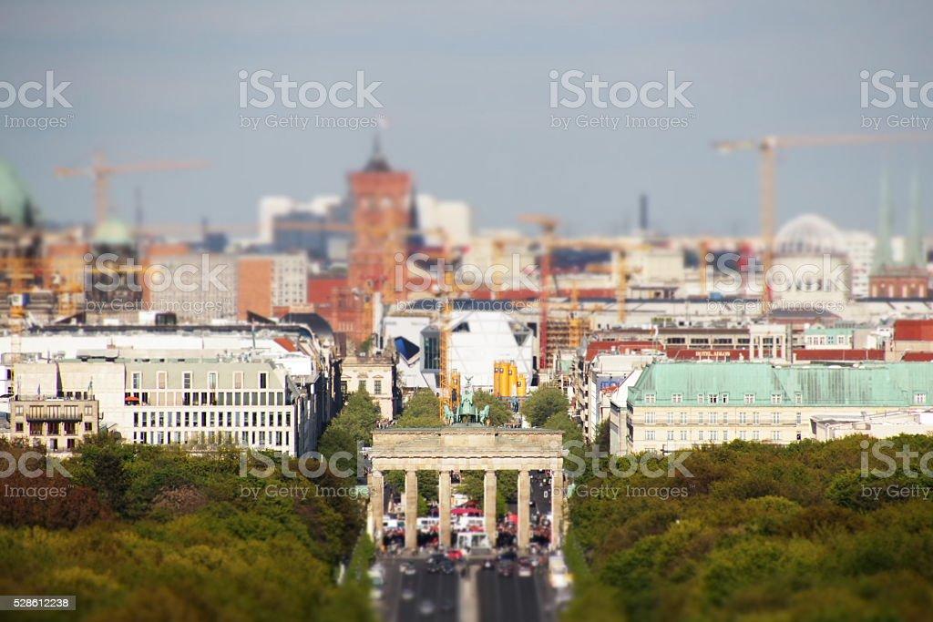 Skyline von Berlin-brandenburg Tor – Foto