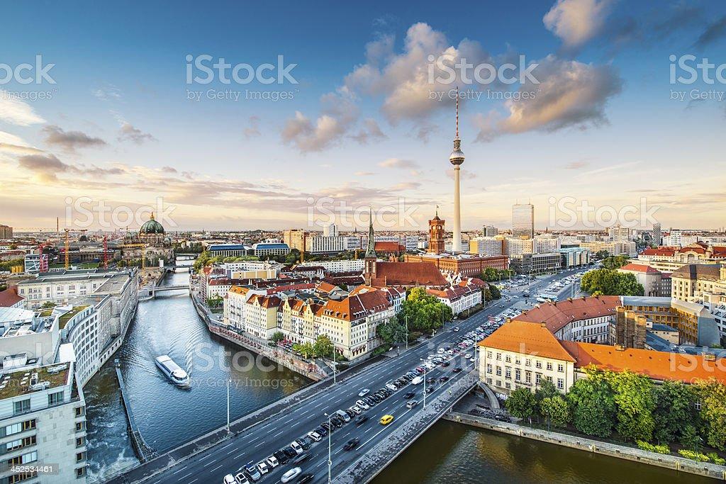 Berlin Cityscape royalty-free stock photo