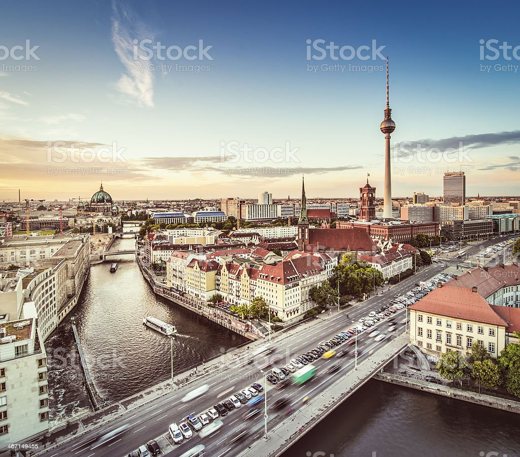 Berlin Cityscape stock photo