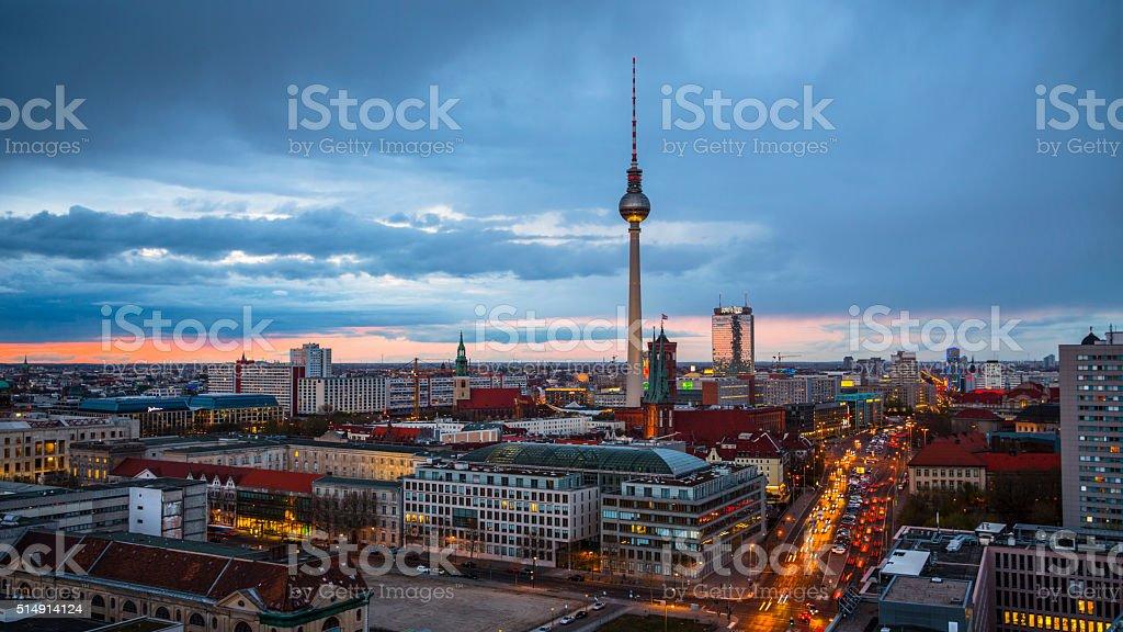 Stadt mit Fernsehturm Berlin, Deutschland – Foto