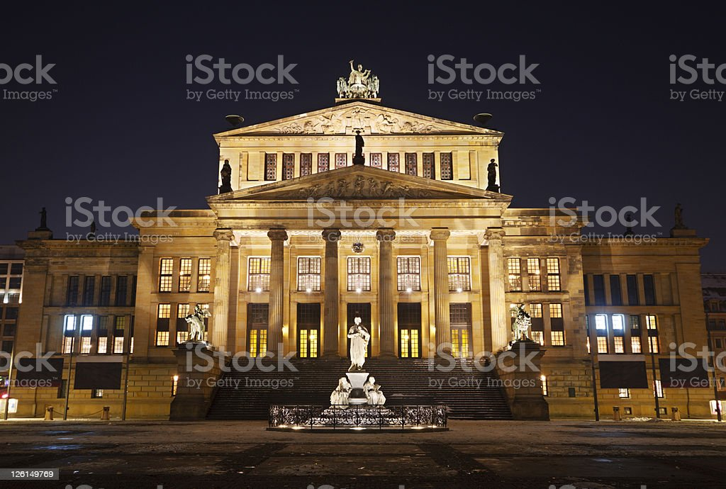 Berlin Concert Hall royalty-free stock photo