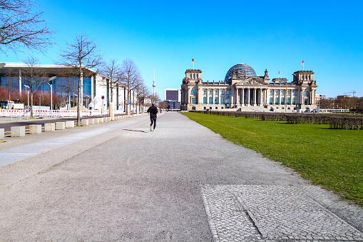 Berlin during coronavirus shutdown in Germany