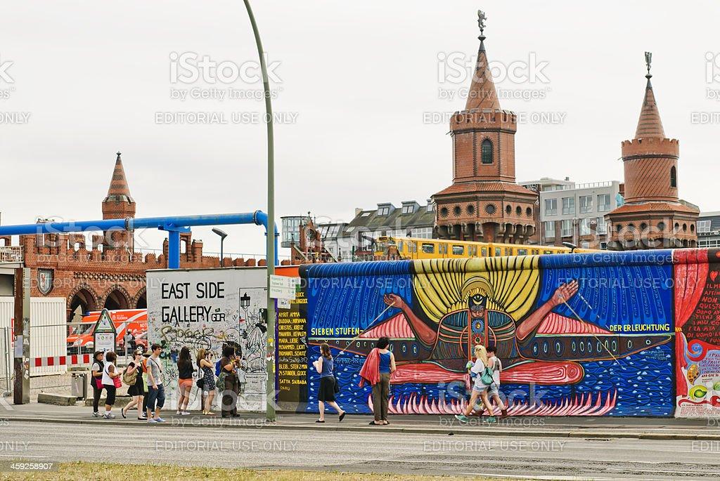 Berlin east side gallery stock photo