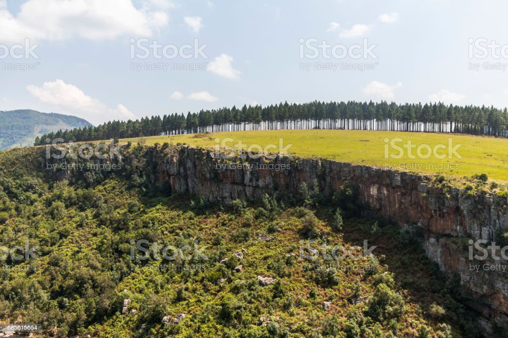 Berlin Falls landscape view in South Africa royalty-free 스톡 사진