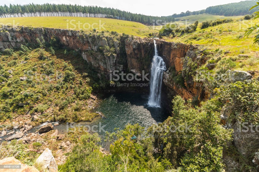 Berlin Falls landscape view in South Africa 免版稅 stock photo