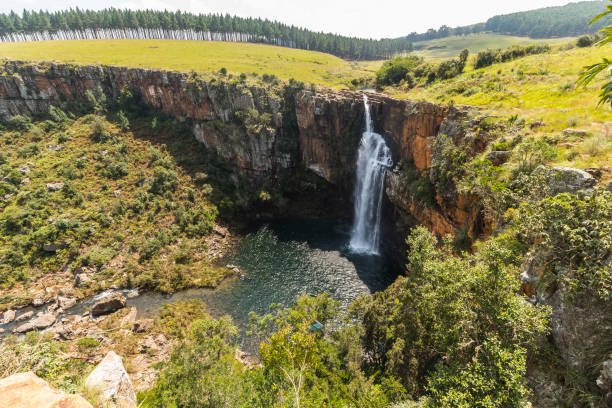 Berlin Falls landscape view in South Africa stock photo