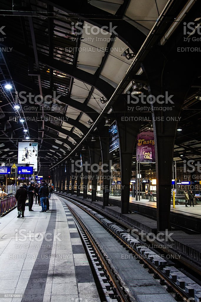 Berlin Friedrichstrasse railway station stock photo