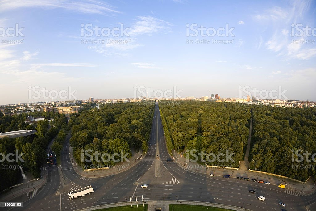 Berlin from above royalty-free stock photo