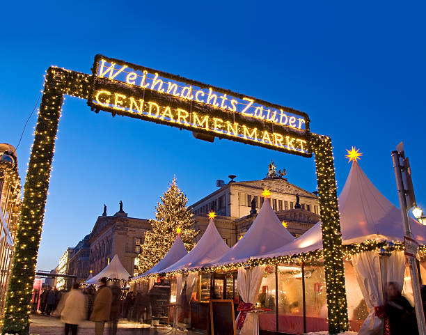 berlin gendarmenmarkt christmas market stock photo