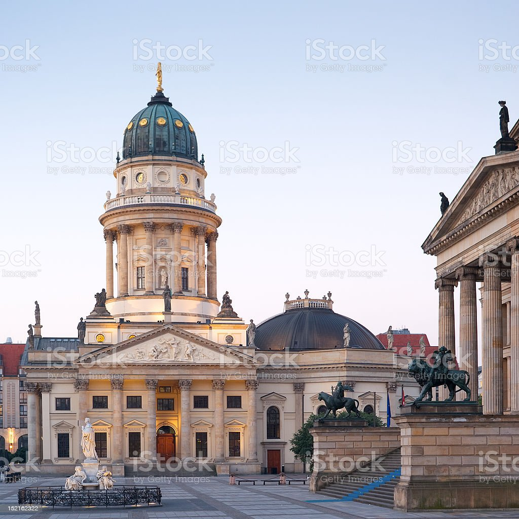 Berlin, Gendarmenmarkt, Deutscher Dom stock photo