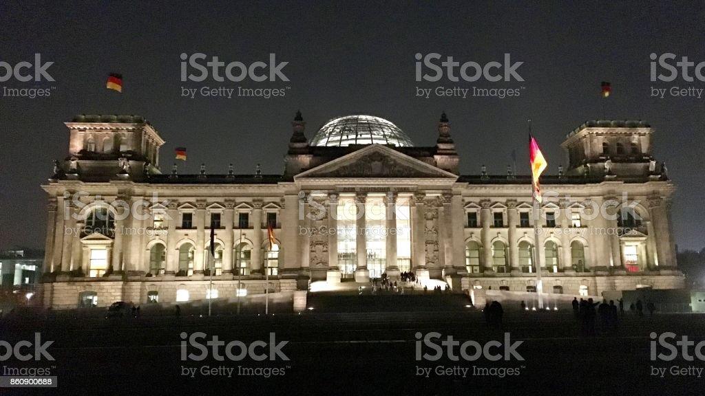 Berlin, German parliament stock photo