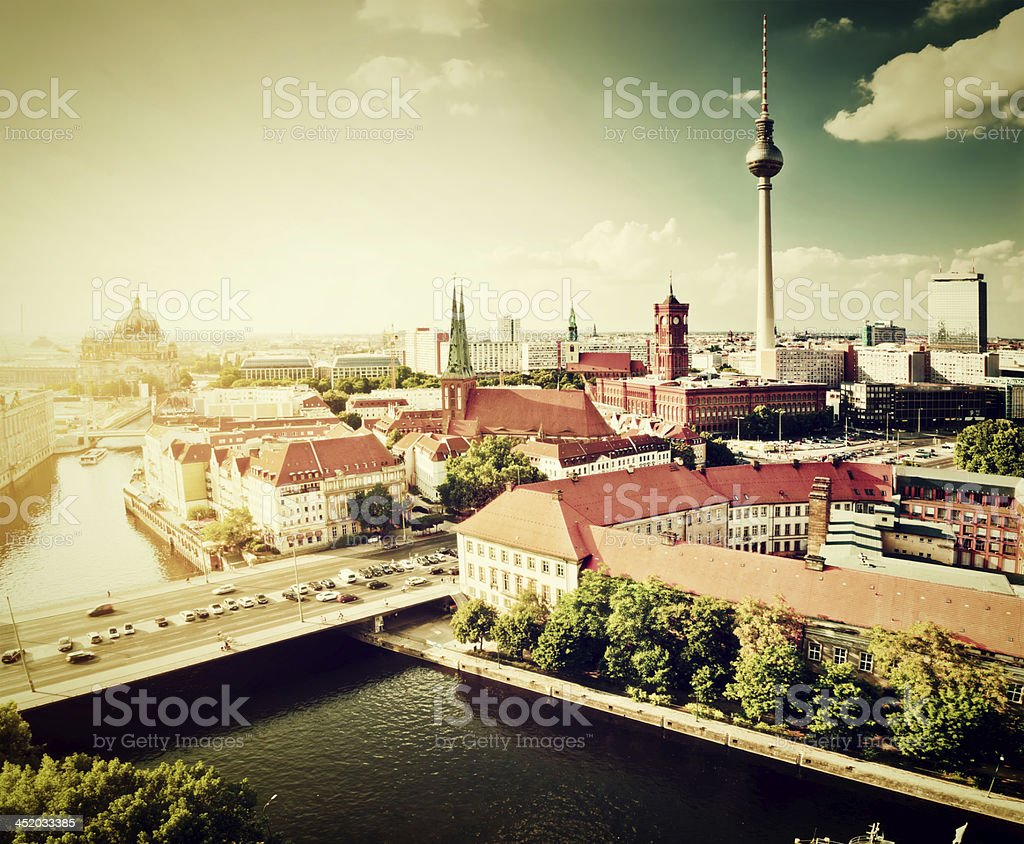 Berlin, Germany view on major landmarks stock photo