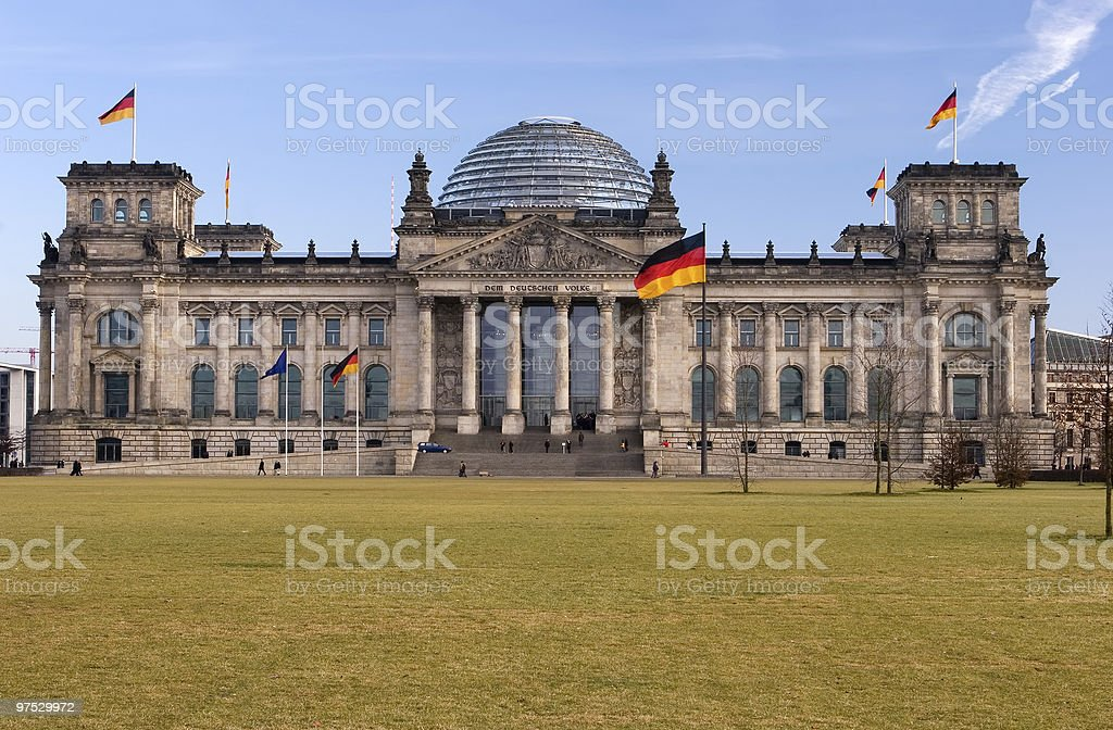 Berlin government building royalty-free stock photo