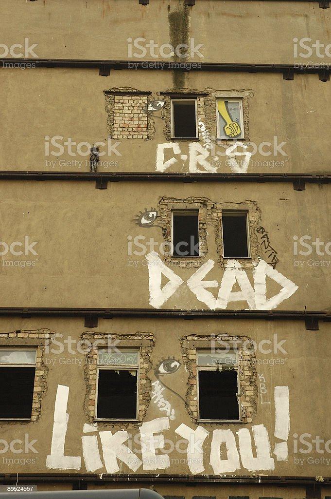Berlin grafitty royalty-free stock photo