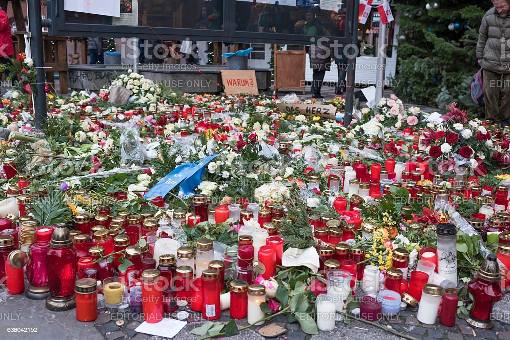 Berlin honored the memory of  killed in the terrorist att stock photo