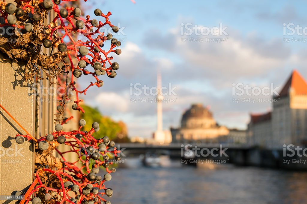 Berlin in background stock photo