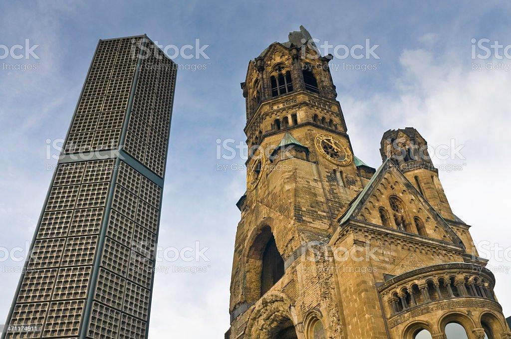 Berlin Kaiser-Wilhelm-Gedächtniskirche royalty-free stock photo