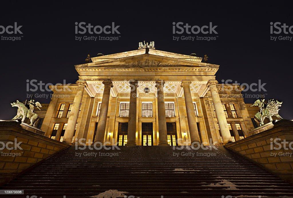 Berlin Konzerthaus At Night royalty-free stock photo