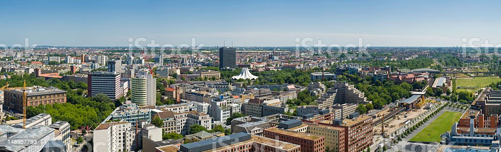 Berlin Kreuzberg cityscape panorama royalty-free stock photo