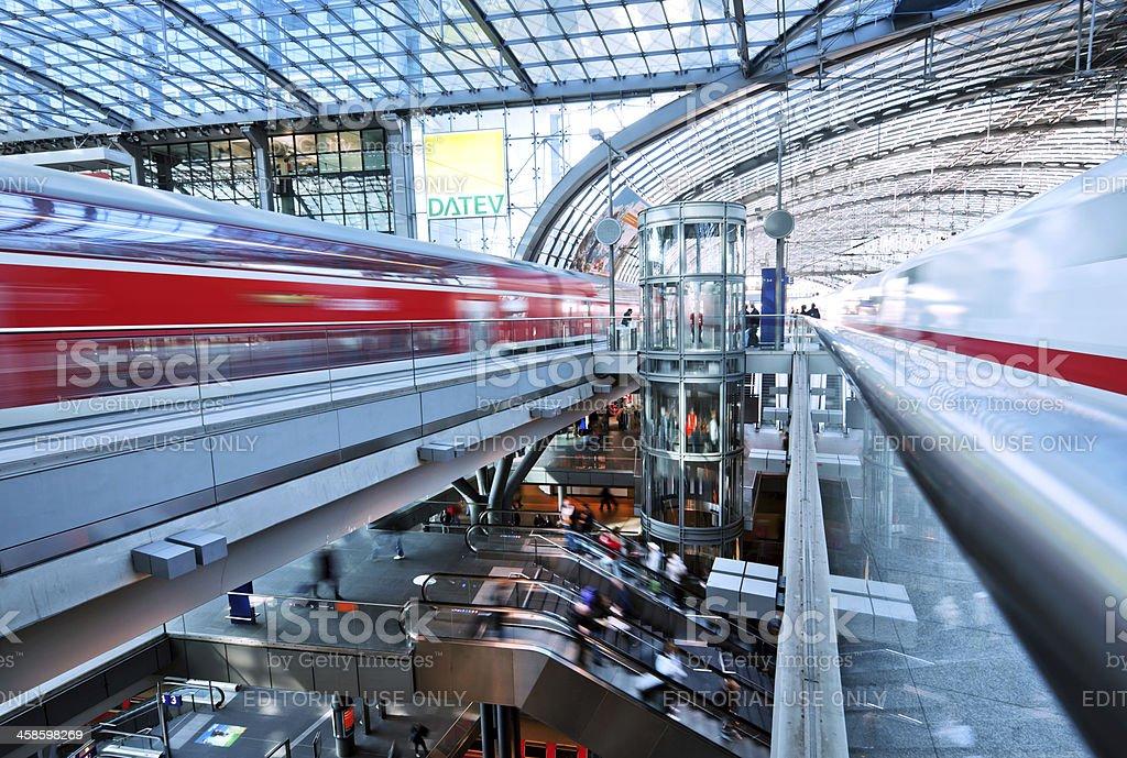 Berlin main train station royalty-free stock photo