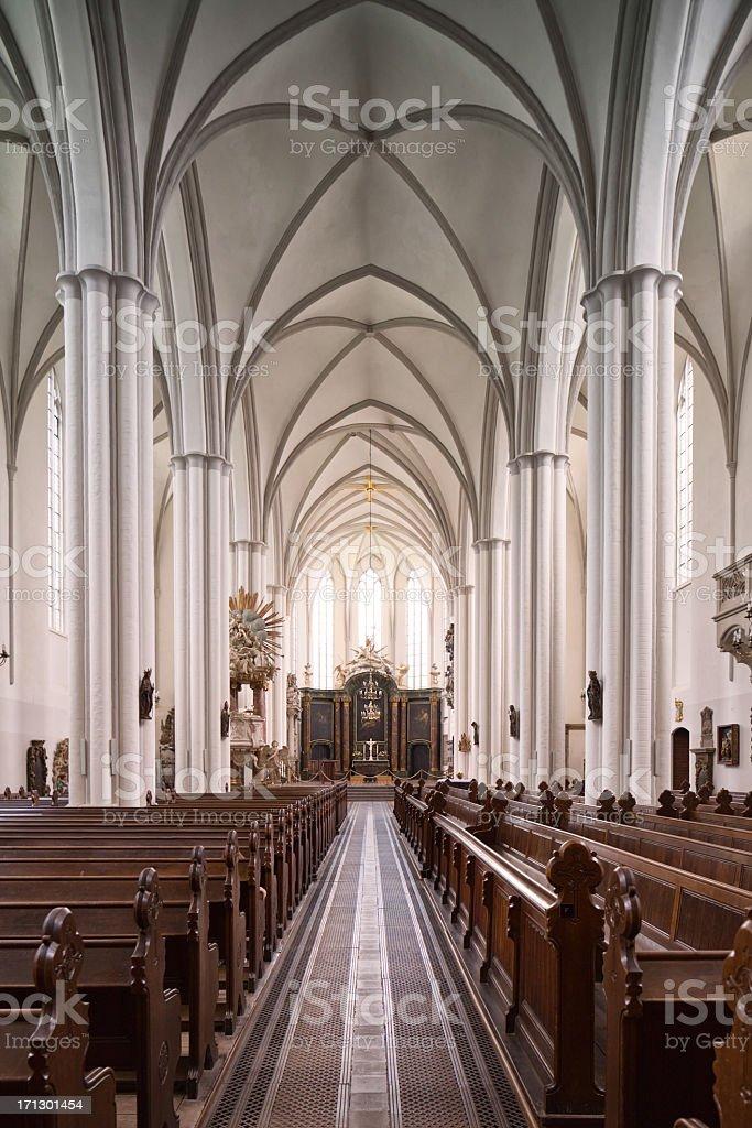 Berlin Marienkirche nave vertical royalty-free stock photo