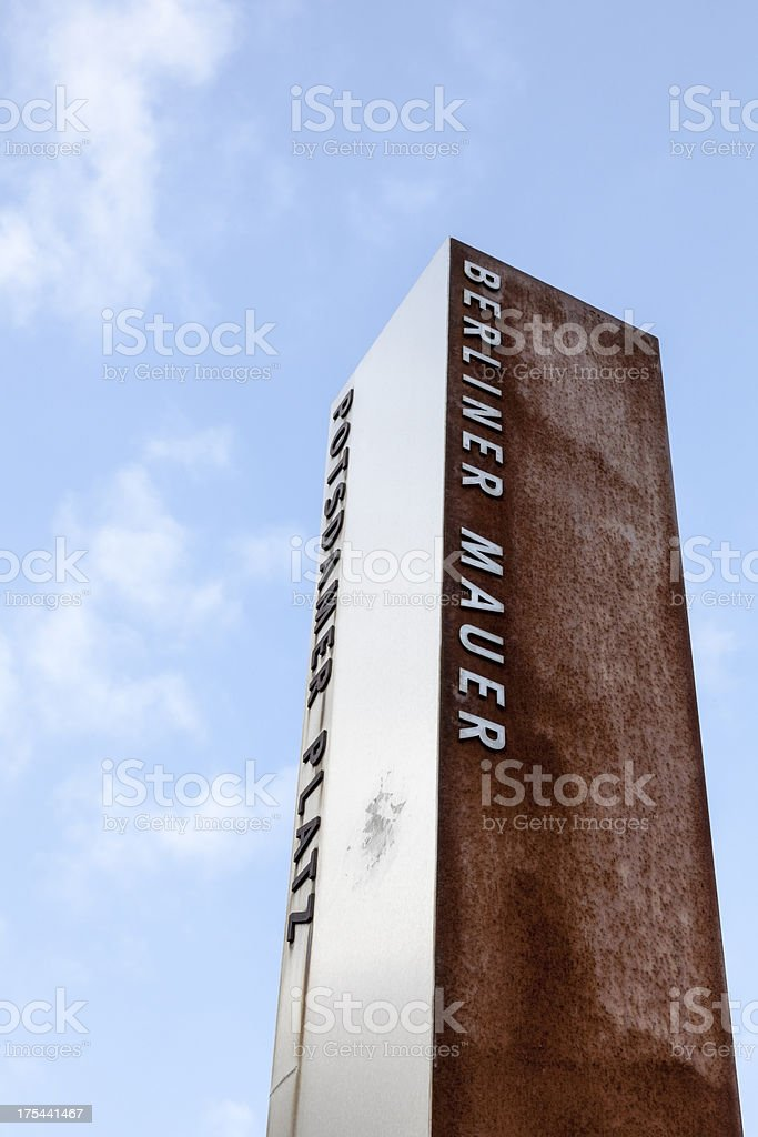 Berlin Mauer sign stock photo