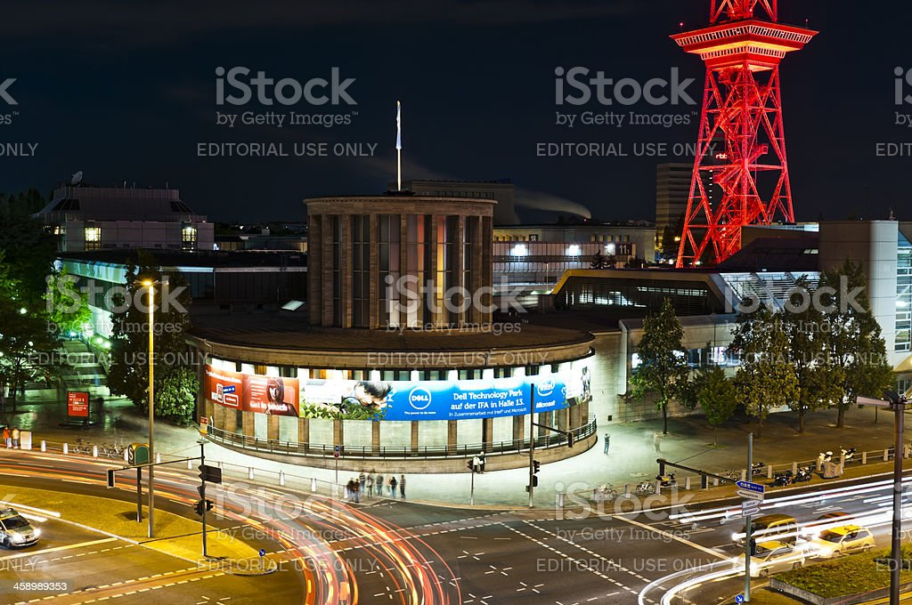 Berlin Messe IFA at night stock photo
