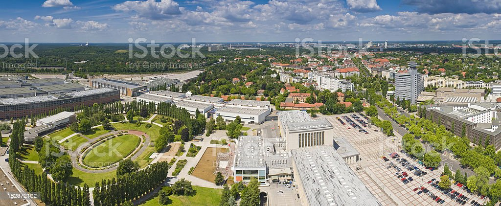Berlin Messegelände trade fair exhibition pavilions aerial cityscape panorama Germany royalty-free stock photo