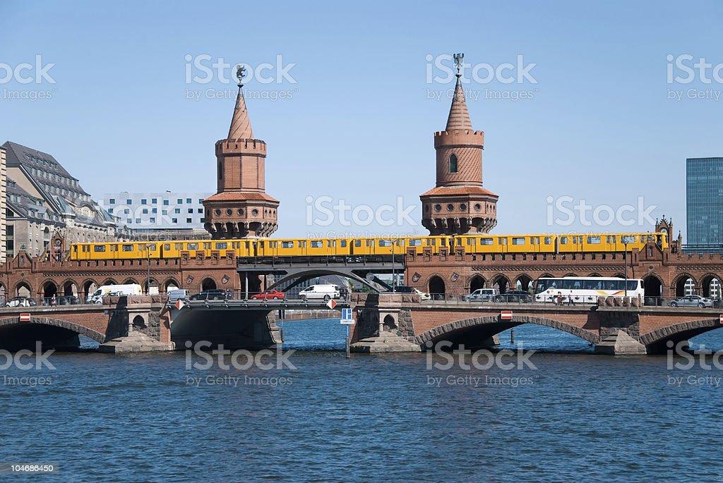 berlin oberbaumbrücke oberbaumbruecke stock photo