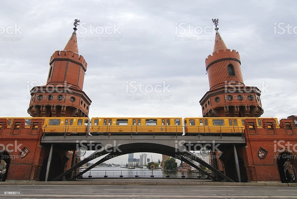 berlin, oberbaumbrucke royalty-free stock photo